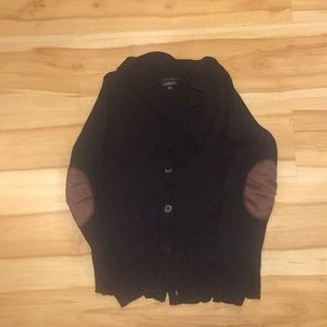 Sweaters - Black merino wool cardigan size S